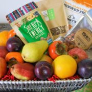 organic snack & fruit basket