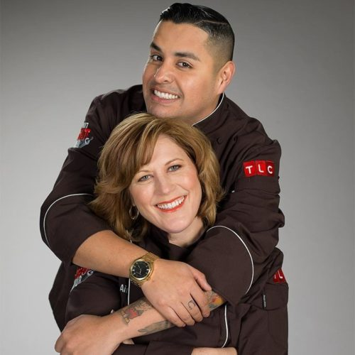 Aimee Anderson and Jose Barajas, friends and co-contestants on the Next Great Baker.