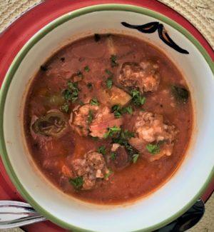 Albóndigas (Mexican Meatball) Soup