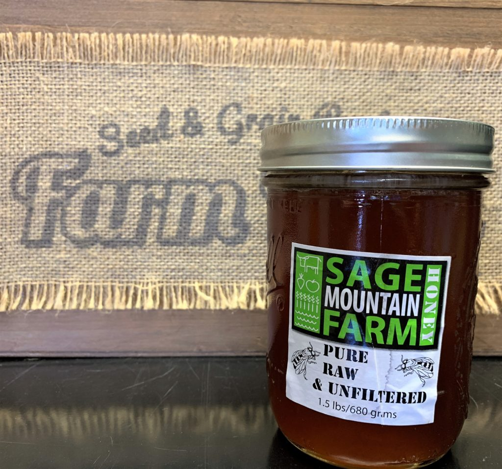 Sage Mountain Farm's raw, unfiltered, local honey.