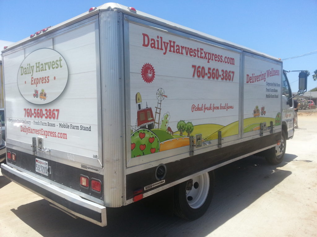 Woohoo! Daily Harvest Express now has a mobile market thanks to our first Farm Truck.