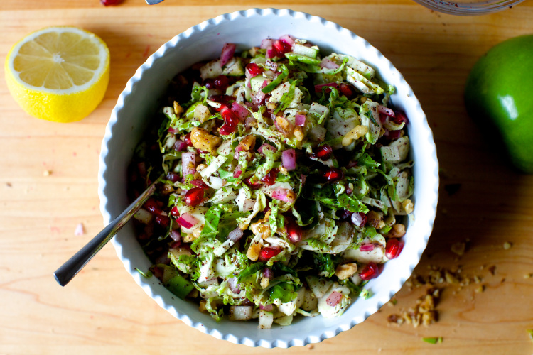 Roasted Brussels Sprouts & Spiced Apple Salad