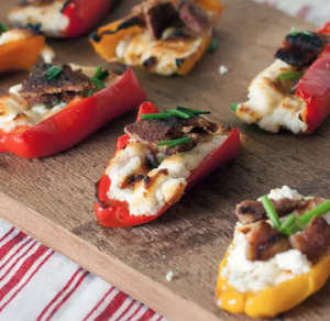 Goat Cheese Filled Mini Sweet Peppers