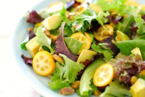 Kumquat Avocado & Pistachio Salad