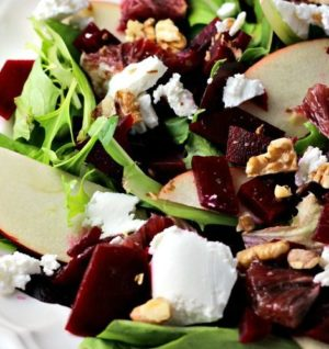 Blood Orange and Beet Salad with Goat Cheese and Apples