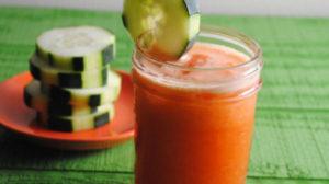 Spicy Carrot & Cucumber Juice
